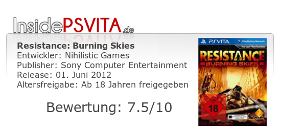 Resistance Burning Skies Bewertung