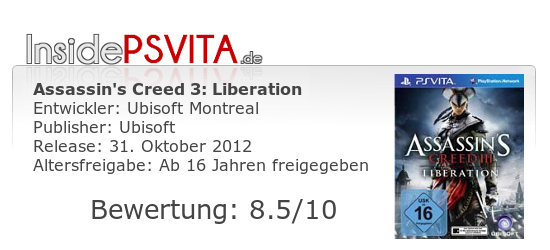 Assassins Creed 3 Liberation Bewertung