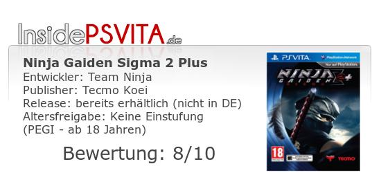 Ninja Gaiden Sigma 2 Plus PS Vita Bewertung